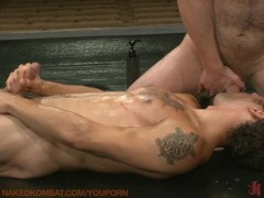Gay oil wrestling and hot sex!