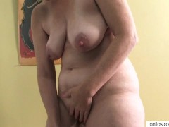 Horny housewife mature masturbation