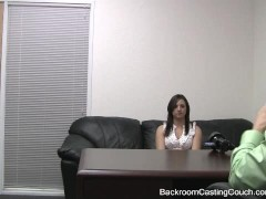 Conceited Interviewee Swallows Cum - No Job