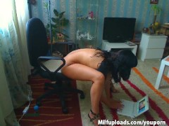 sexy milf playing while watching a movie part-2