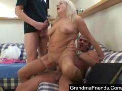 Granny into a threesome