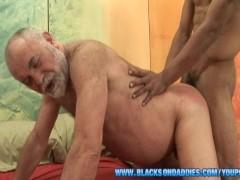 Huge Black Cock For Grampa