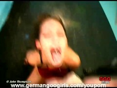 German Girls Sucking Cocks and Drinking Cum