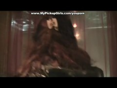 Thin girlie fucked in cafe