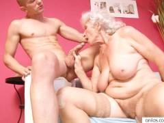 Cougar Granny Fucks Young Dick