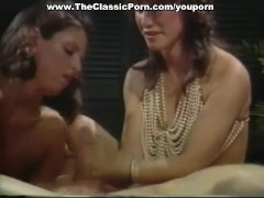 Loni Sanders licking cum from the dick