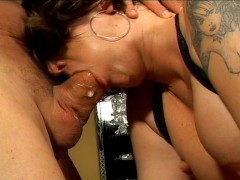 Slutty trailer trash MILF is a master cocksucker