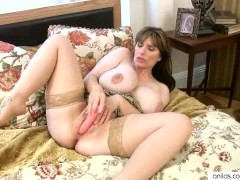 Super Busty Milf Enjoys Her Massive Tits