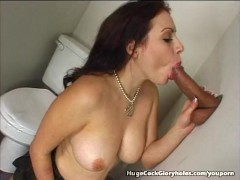 Young Big Titty Girl Deepthroats Dick At Gloryhole
