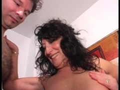 Horny MILF bangs younger man (clip)