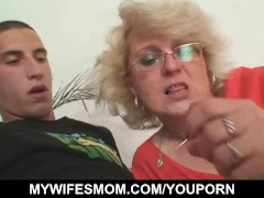 Guy fucks his wife's mom till wife comes in