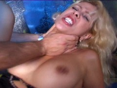Hot blonde gets her ass rammed by a fat cock