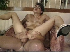 Hot mom gets fucked in her living room