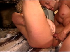 Big titty blonde fucks guy with huge cock