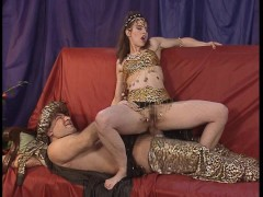 Pharaoh pleases the belly dancer with his staff. (Clip)