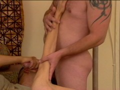 Couples roommate walks in with a hard on