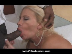 Older Blonde Wife Goes Black - DFWKnight