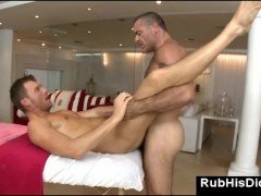 Anal sex after erotic gay massage