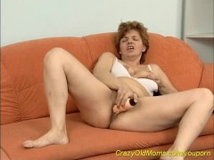 hairy red head mom alone at home