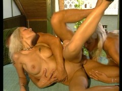 Blonde fisted while fucked in the ass