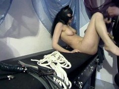 Latex cat girl fucked in dungeon