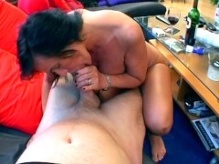 Horny older chick sucks the cum out - Sascha Production
