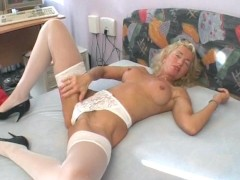 Mature German blonde wants to make a porn - Sascha Production