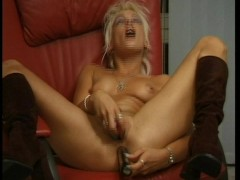 Mandy lights a smoke and goes to town on herself - DBM Video