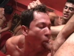 Lots of cum at this gay orgy - Pau Brasil