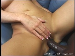 Lovely Laura Cums All Over a Big Black Cock