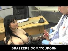 Hot busty patient Anastasia Brill is fucked anally by her doctor
