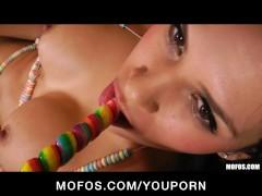 HOT Latina babe Vanessa Veracruz masturbates in her candy bikini