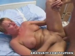 Mature amateur wife homemade anal with facial cumshot