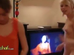 two ultra hot naked dancing lezzies