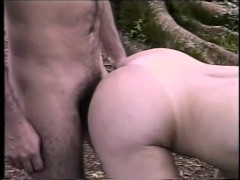 Shemale fucks an older guy in the forest - Gentlemens Video
