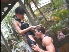 Busty shemale loves getting fucked from behind - Jet Multimedia