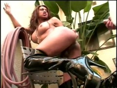 Tranny loves it when he brings the wax out - Bizarre