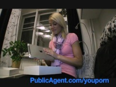 Movie:PublicAgent Cute Blonde wins M...