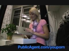 Movie:PublicAgent Cute Blonde wins M...