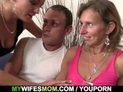 Daughter watches hubby fuck her mom