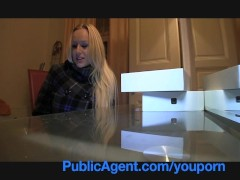 PublicAgent Blonde with Huge Boobs win iPad