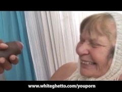 Big Black Cock Creampies Grandma with...
