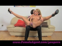 : FemaleAgent. Pole dancer learns new moves