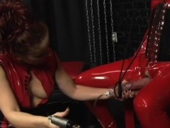Dominatrix Uses Penis Pump On Gimp - Spitfire