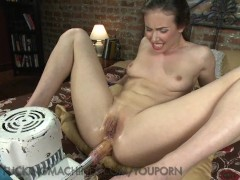 Juicy Holes Get Fucked by Dildo Thrusting Machines
