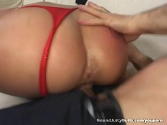 Big Ass Blonde Gets Pounded Doggy Style!