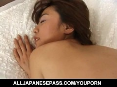 Hot MiLF Aya Kurosaki in sexy lingerie playing with her sex toys