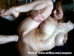 Double fisting my hot wifes loose pussy till she orgasm