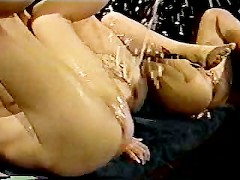 Three girls squirting