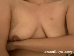 Milf Emily is shy but despearte for her orgasm